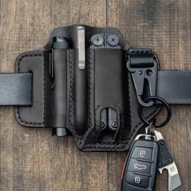 SCG EDC leather belt organizer-BK