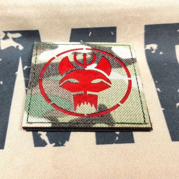 SCG Laser cut Patch SEALS TEAM -Square MC-RED