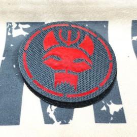 SCG Laser cut Patch SEALS TEAM -Circle BK-RED