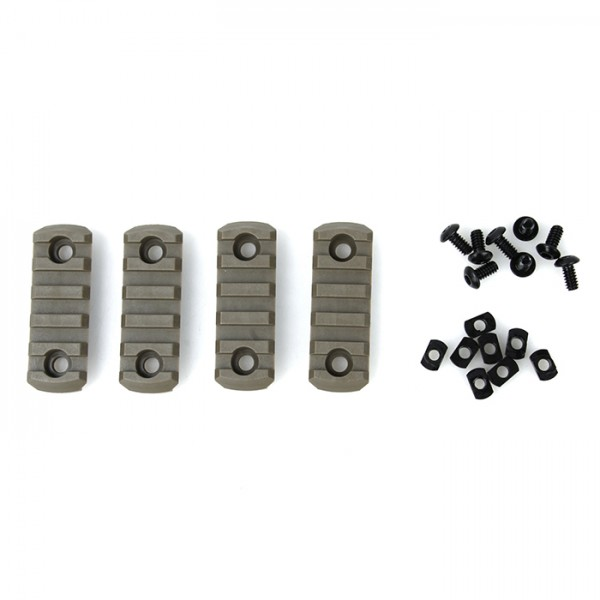 TMC M-LOCK Nylon Picatinny Rail Sections 5 slot ( DE )