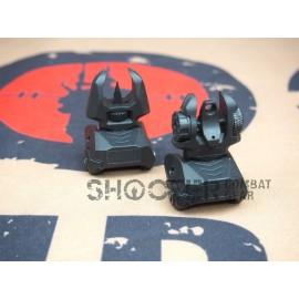 FMA F-AB Rear & Front sight set (BK)