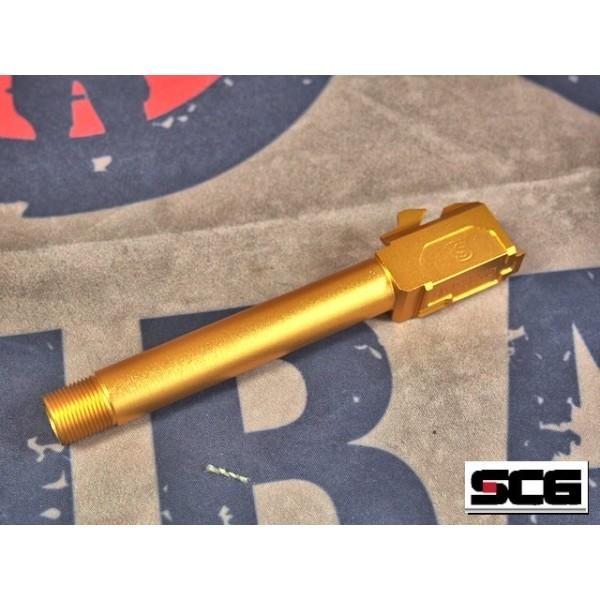 SCG Threaded Aluminum Barrel for TM/WE G17 GBB Series (Type-A)