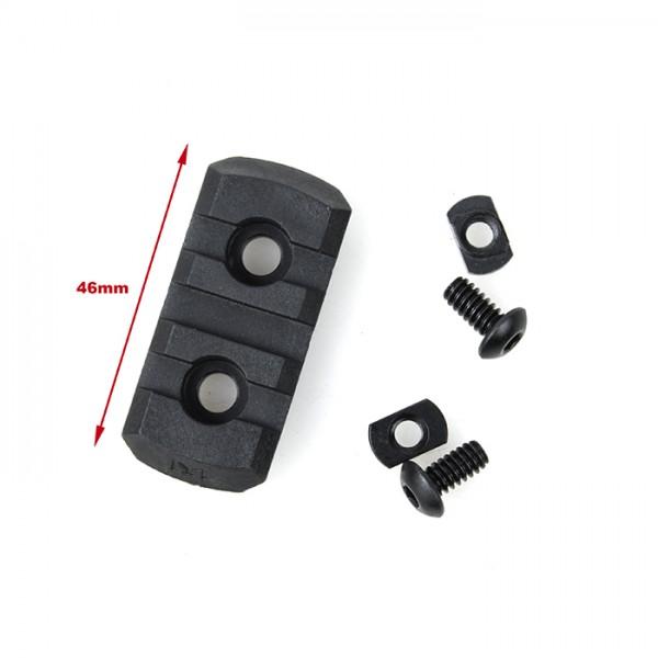 TMC M-LOCK Nylon 3 Picatinny Rail Sections ( Black )