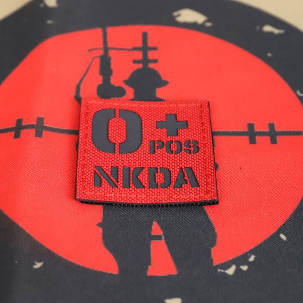 SCG Blood Type O+ POS NKDA Laser cut(Red)