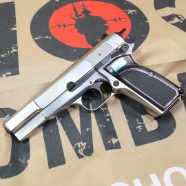 WE Browning Hi Power MK3 GBB Pistol ( Silver )