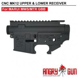 ANGRY GUN CYBERGUN COLT LICENSED CNC MK12 UPPER & LOWER Receiver - FOR TM MWS/MTR