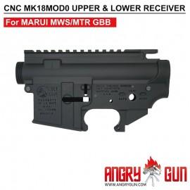 ANGRY GUN CYBERGUN COLT LICENSED CNC MK18MOD0 UPPER & LOWER Receiver - FOR TM MWS/MTR