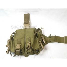 TMC Double Drop Leg Magazine Carrier (KHAKI)