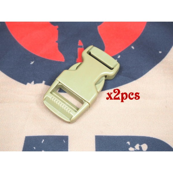 SCG 2.5cm buckle (TAN-2pcs)