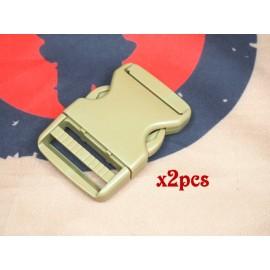 SCG 3.8cm buckle (TAN-2pcs)