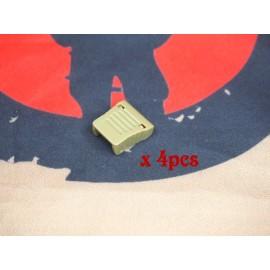 SCG cord-end clip (TAN -4pcs
