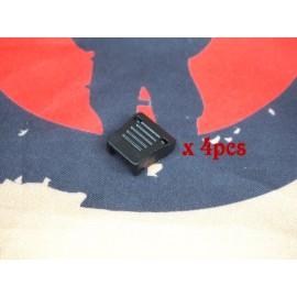 SCG cord-end clip (BK -4pcs)