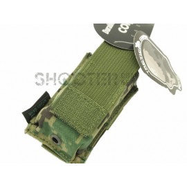 TMC MOLLE Single 9mm Pistol Mag Pouch (AOR2)