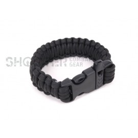 SCG SPEC Bracelet with whistle (BK)