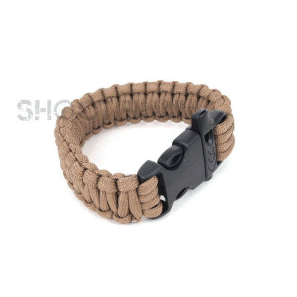 SCG SPEC Bracelet with whistle (Tan)