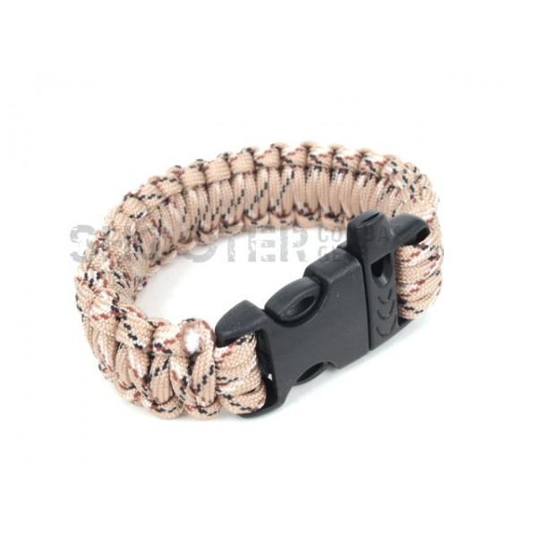 SCG SPEC Bracelet with whistle (Desert Marpat)