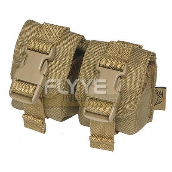 Flyye Double Fragmention Grenade Pouch(KHAKI)