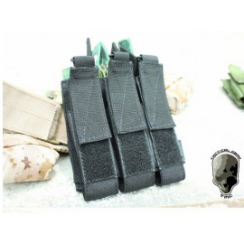 TMC MOLLE Tri Open Top Mag Pouch for MP7 ( BK)