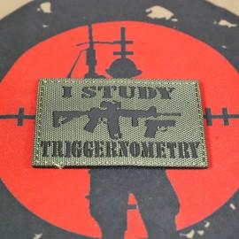 """SCG """"I Study Triggernometry"""" Laser cut Patch (OD)"""