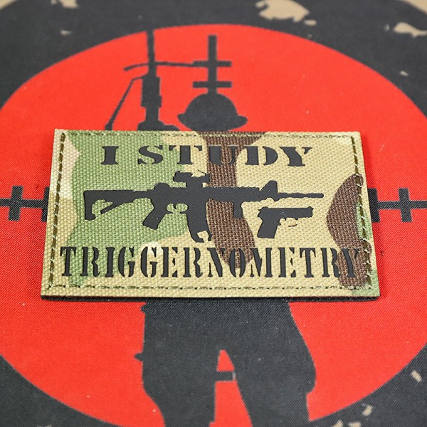 "SCG ""I Study Triggernometry"" Laser cut Patch (MC)"