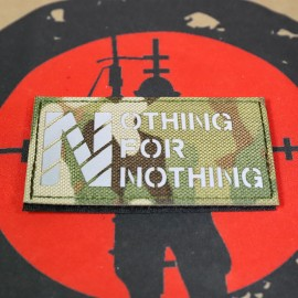"""SCG """"Nothing For Nothing"""" Laser cut Patch (MC)"""