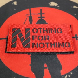 """SCG """"Nothing For Nothing"""" Laser cut Patch (Red)"""