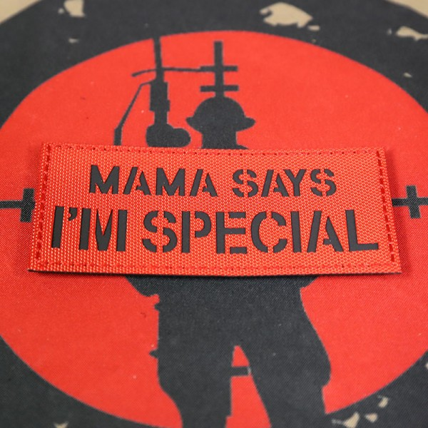 """SCG """"MAMA Says I'm Special"""" Laser cut Patch (Red)"""