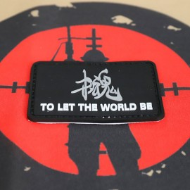 """SCG PVC PATCH """"TO LET THE WORLD BE"""""""