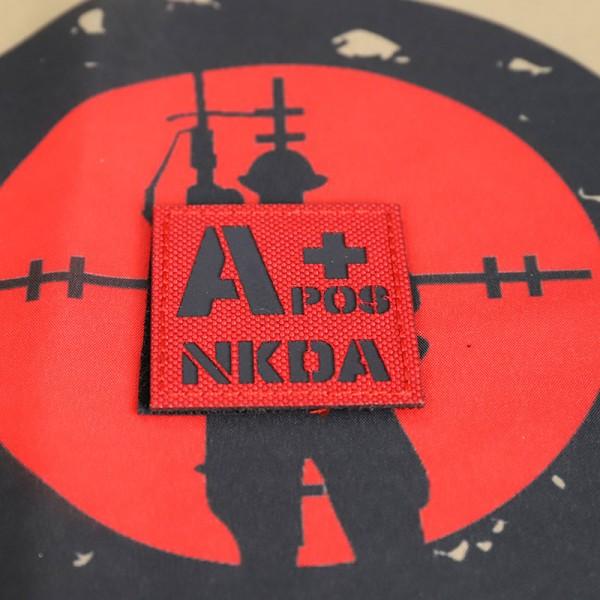 SCG Blood Type A+ POS NKDA Laser cut(Red)