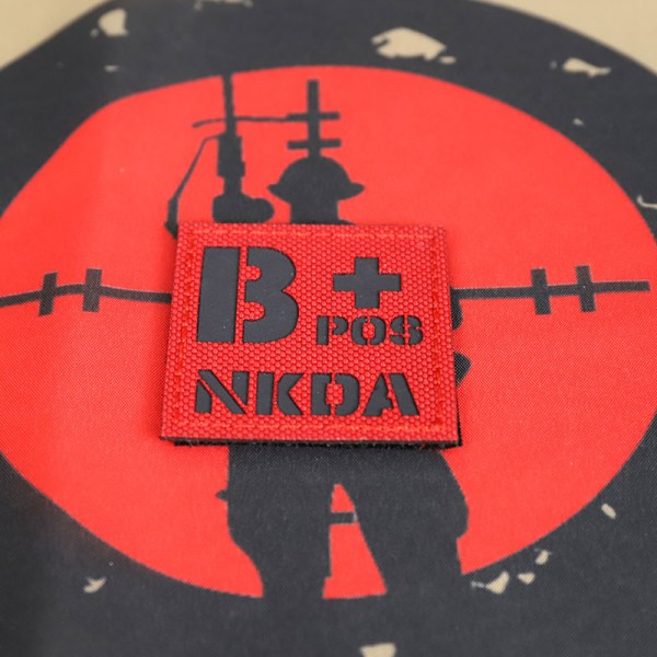 SCG Blood Type B+ POS NKDA Laser cut (Red)