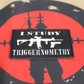 "SCG Laser cut Patch ""I Study Triggernometry-BK"""