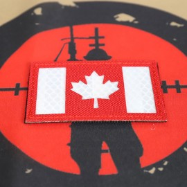 "SCG Flag Laser cut Patch ""Canadian Flag-Red"""