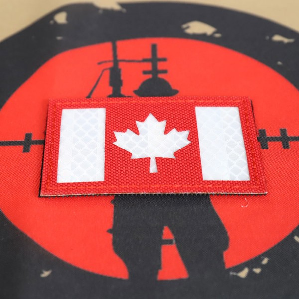 """SCG Flag Laser cut Patch """"Canadian Flag-Red"""""""