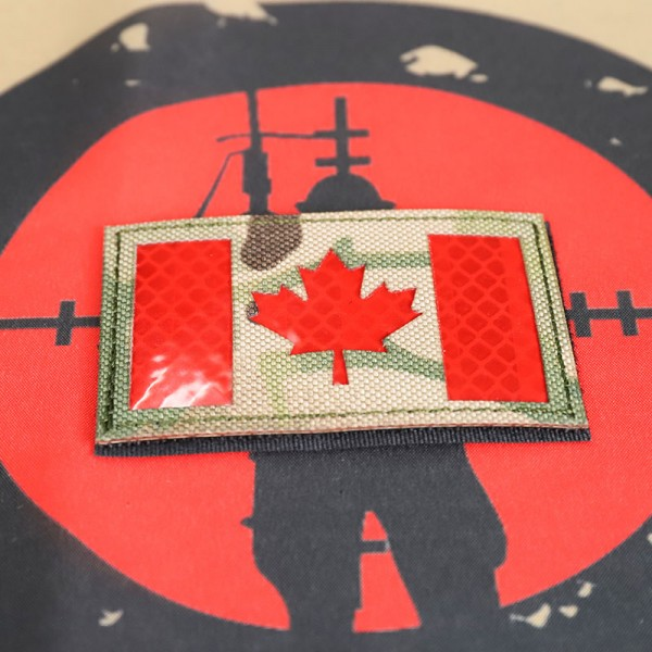 "SCG Laser cut Patch ""Canadian Flag-MC"""