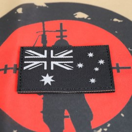 "SCG Laser cut Patch  ""Australian Flag-BK"""