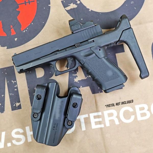 SCG F Style Brace w/ holster set For Glock GBB Series (BK)