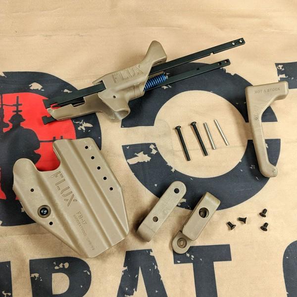 SCG F Style Brace w/ holster set For Glock GBB Series (DE)