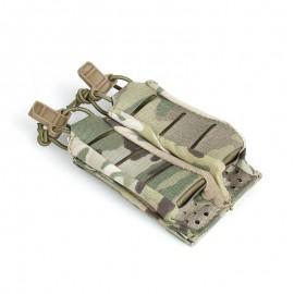 TMC 9MM STACKABLE DOU PISTOL POUCH ( Multicam )