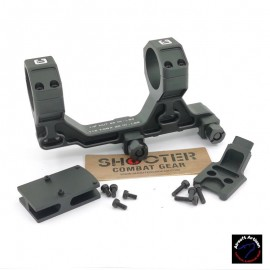AIRSOFT ARTISAN BO Style 30mm Modular Mount for Milspec 1913 Rail System With RMR Adapter (BK)