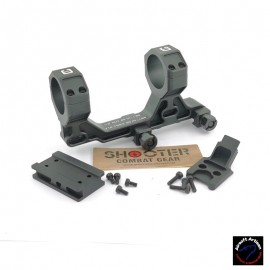 AIRSOFT ARTISAN BO Style 30mm Modular Mount for Milspec 1913 Rail System With T1/T2 Adapter (BK)
