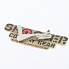 5KU stainless steel slide stop For HI-CAPA (TYPE1 -Silver)